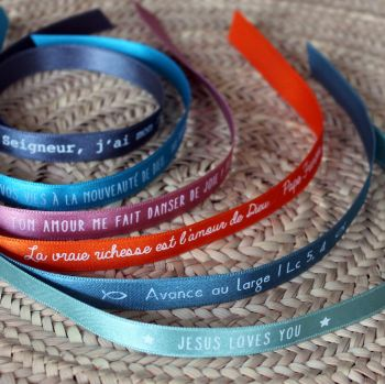Bracelet ruban 10 couleurs