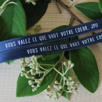 Bracelet ruban bleu marine