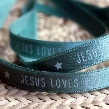 Bracelet ruban vert d'eau