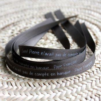 Bracelet ruban taupe