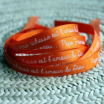 Bracelet ruban orange