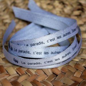 Bracelet ruban argenté Soeur Emmanuelle