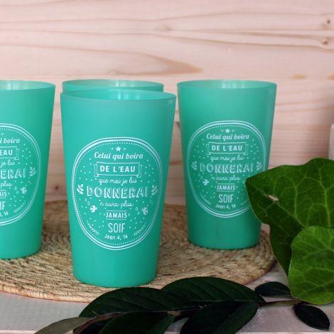 Gobelet réutilisable vert