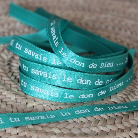 Bracelet ruban vert