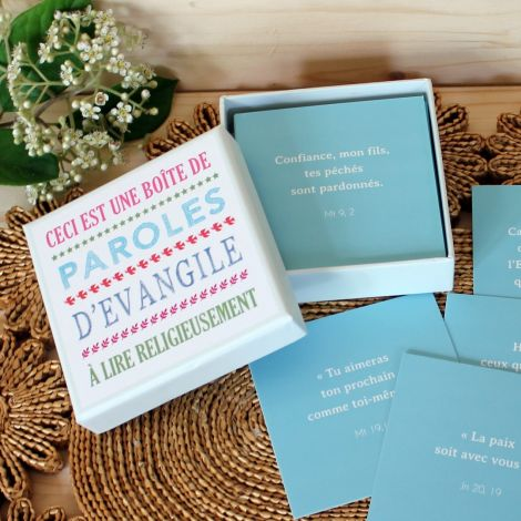 Boîte paroles d'Evangile carrée