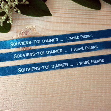 Bracelet ruban bleu canard