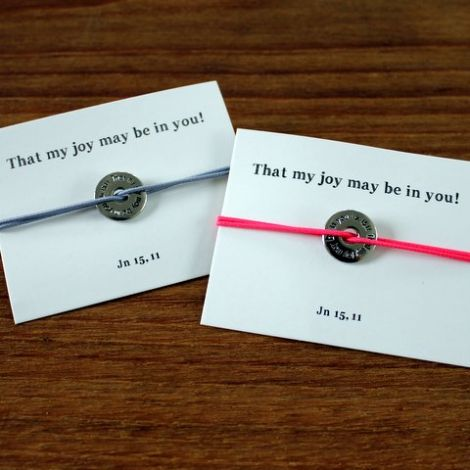 « That my joy may be in you » bracelet