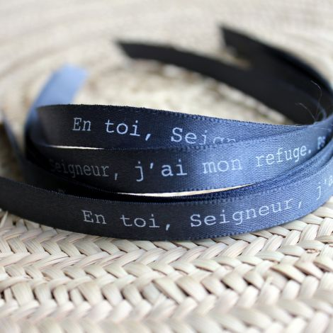 Bracelet ruban gris ardoise