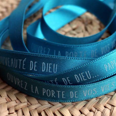 Bracelet ruban turquoise