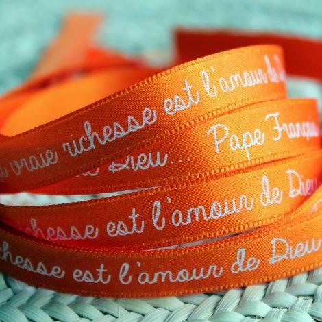 Bracelet ruban orange