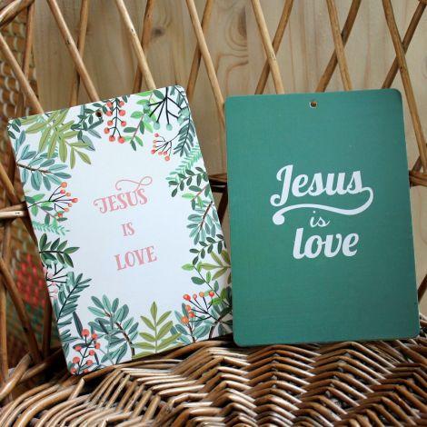 """Planche """"Jesus is love"""" 2 modèles"""