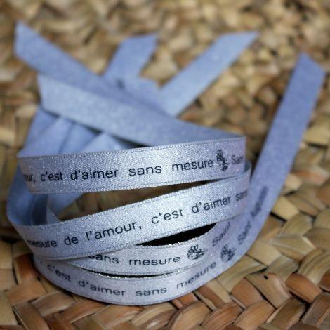 Bracelet ruban argenté Saint Augustin